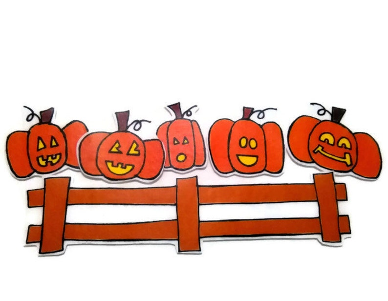 Pumpkins Sitting On The Gate Fingerplay Nursery Rhyme Busy image 0