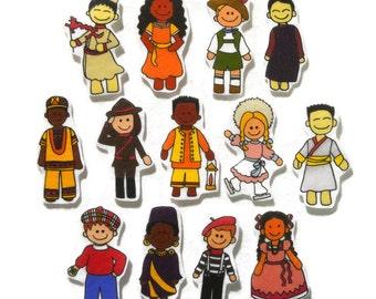 Children of the World, Felt Board, Flannel Board, Felt Set, Homeschool, Busy Book, Felt Story, Story Time, Quiet Book, Imaginative Play