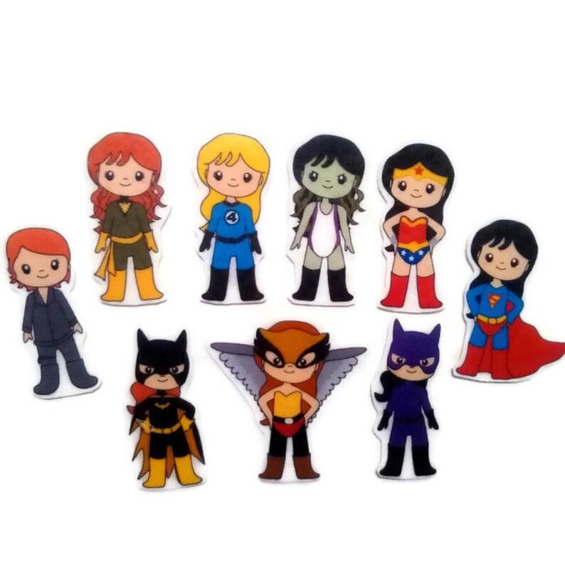 Superhero Girls Felt Board Flannel Board Felt Set image 0