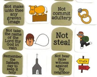 Ten Commandments, Felt Board, Flannel Board, Felt Set, Homeschool, Bible Story, Sunday School, Felt Story, Christian Felt, busy book,