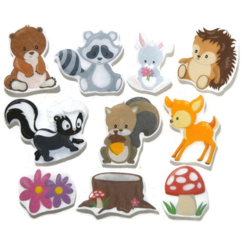 Forest Animal Felt Pieces flannel board story felt board image 0