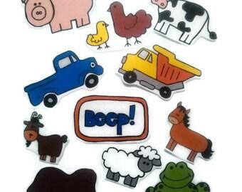 Felt board, felt board Truck, homeschool, felt board pieces, flannel board, felt board story, quiet book, busy book, felt blue truck
