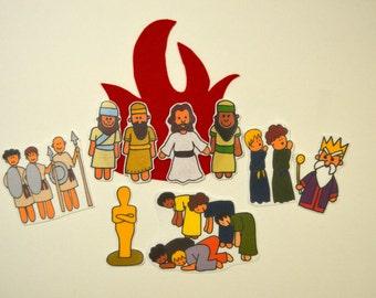 The Fiery Furnace, Felt Board, Flannel Board, Felt Set, Homeschool, Bible Story, Sunday School, Felt Story, Christian Felt, busy book