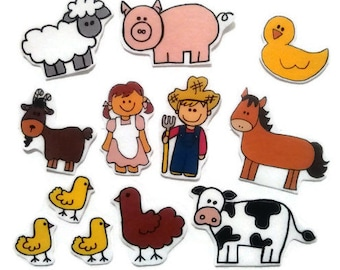 Felt board, felt board farm, homeschool, felt board pieces, flannel board, felt board story, quiet book, busy book, felt story, felt farmer