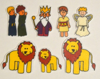 Daniel and the Lion's Den, Felt Board, Flannel Board, Felt Set, Homeschool, Bible Story, Sunday School, Felt Story, Christian Felt,