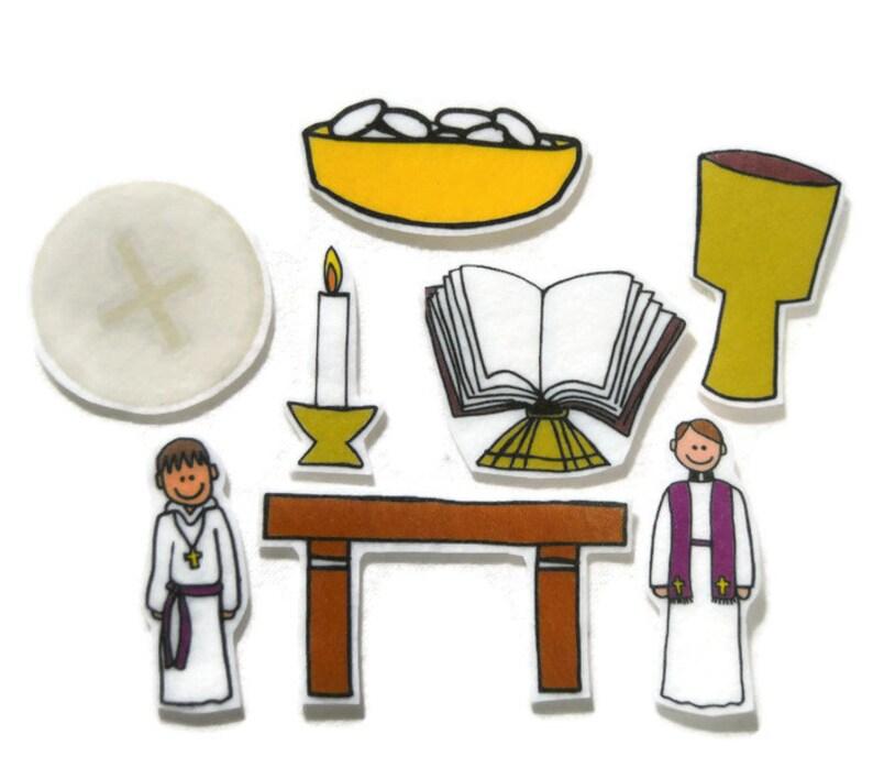 Sacraments Felt Board Flannel Board Felt Set Homeschool image 0