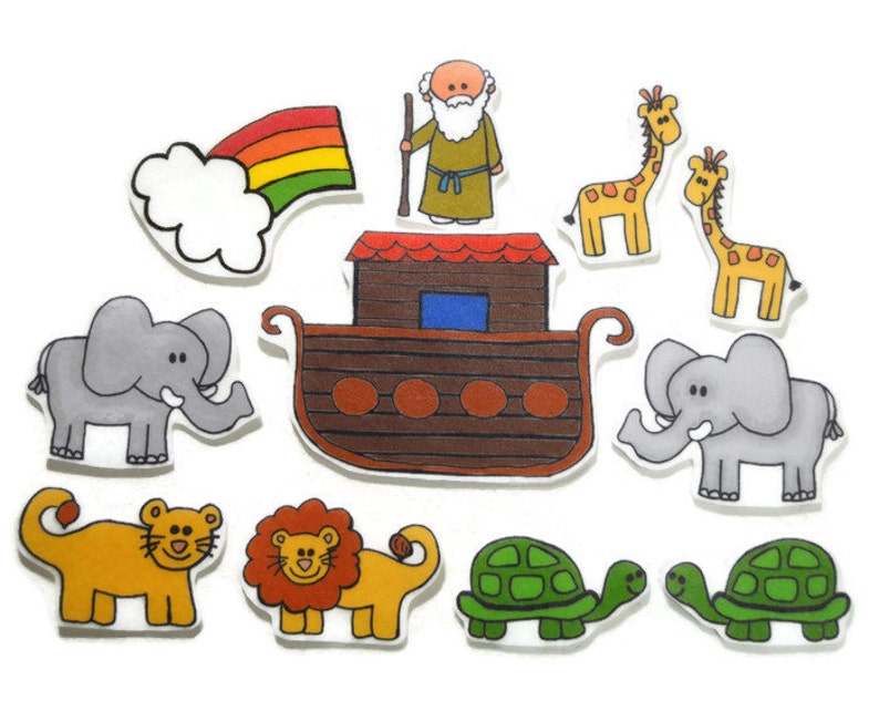 Noah's Ark Felt Board Flannel Board Felt Set image 0