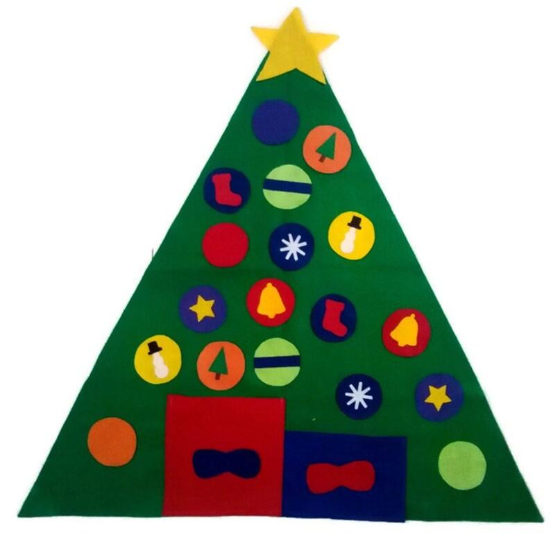 Felt Christmas Tree Felt Board Flannel Board Busy Board image 0