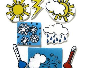 Felt board, Felt weather, homeschool, felt board pieces, flannel board, felt board story, quiet book, busy book, felt story, weather board