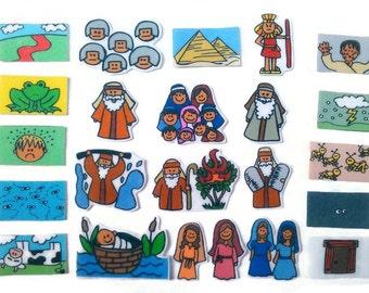 Life of Moses, Felt Board, Flannel Board, Felt Set, Homeschool, Bible Story, Sunday School, Felt Story, Christian Felt, busy book,