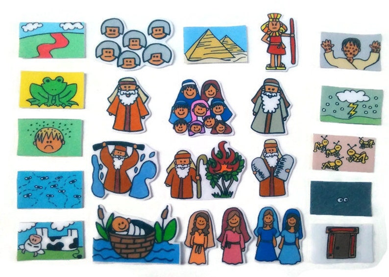 Life of Moses Felt Board Flannel Board Felt Set image 0