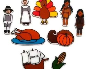 Felt board, Thanksgiving, homeschool, felt board pieces, flannel board, felt board story, quiet book, busy book, felt story, flannel story