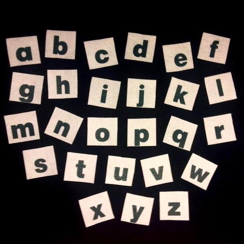 Felt Board Alphabet Lower Case Letters Flannel Board Story image 0
