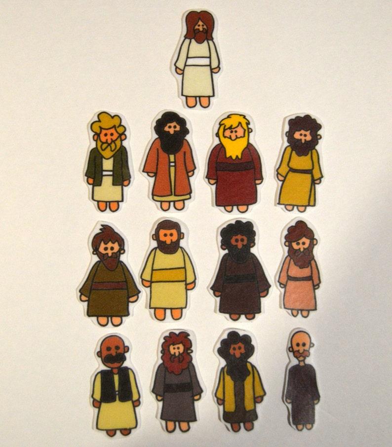 Jesus and the Disciples Felt Board Flannel Board Felt Set image 0