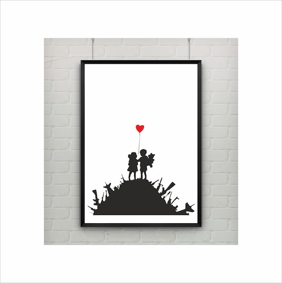 Banksy Tourist Information  Poster  A2 SIZE