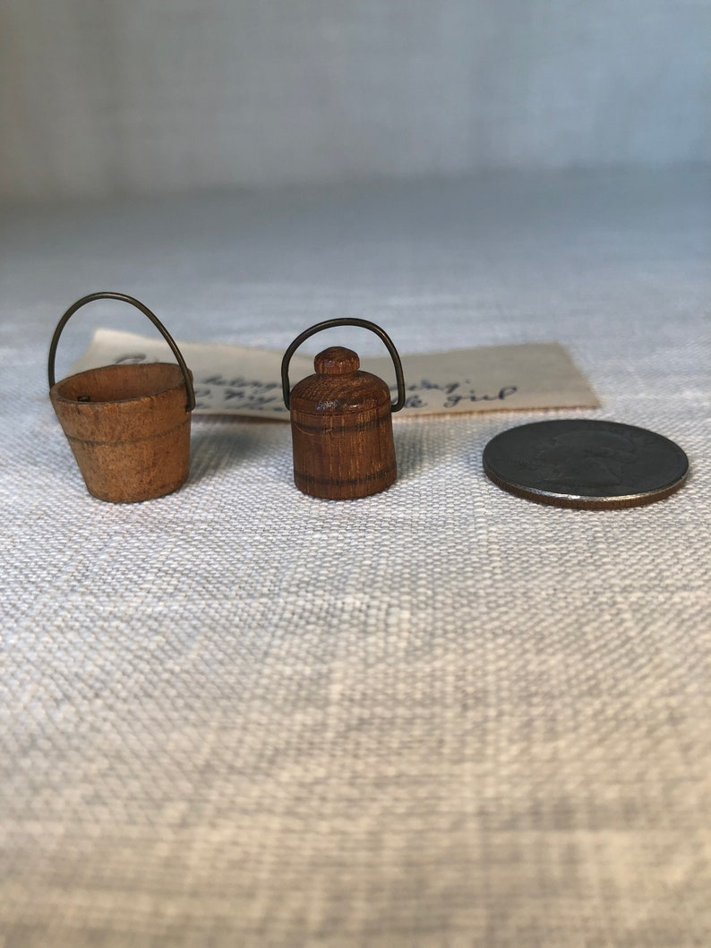 Miniature Hingham Buckets with Provenance