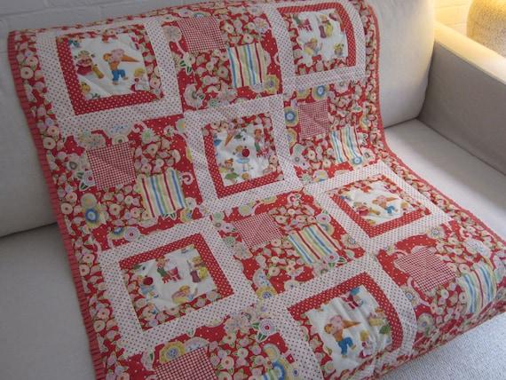 Housse de couette de lit patchwork fait main coussin etsy - Housse de couette patchwork ...
