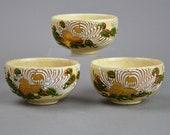 Antique Kiyomizu Moriage Cups Japanese Tea c3