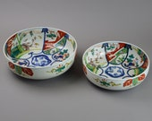 Large Antique Imari Nesting Bowls Japanese Dragon Punch Bowls A1