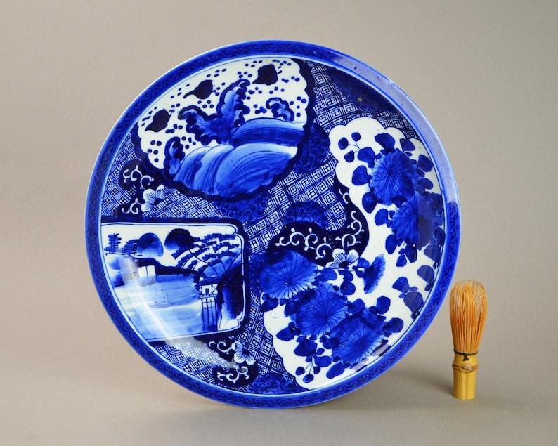 Large Antique Imari Bero-ai Japanese Charger Plate Platter N22