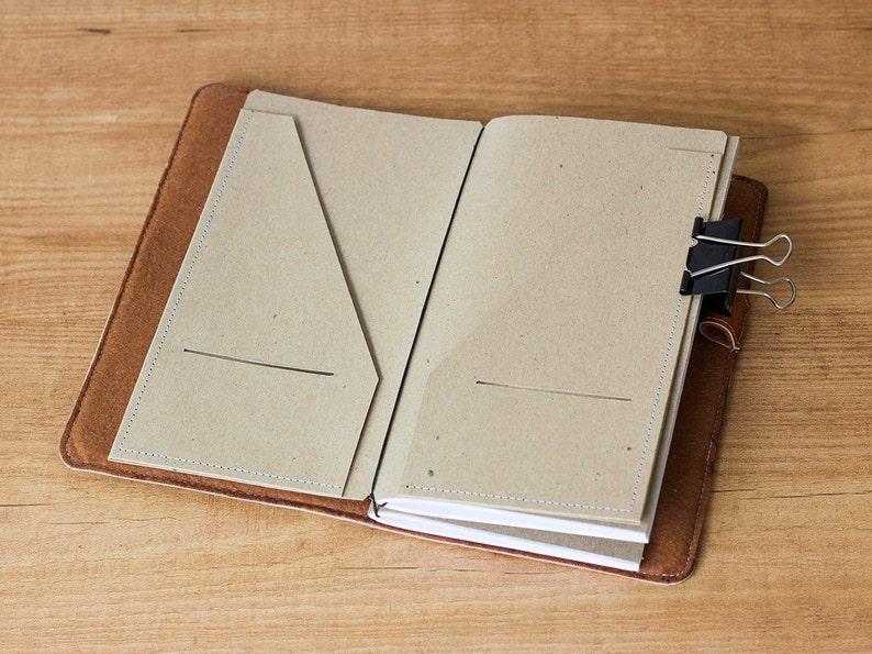 Kraft paper folder for Traveler's Notebook Regular size image 0