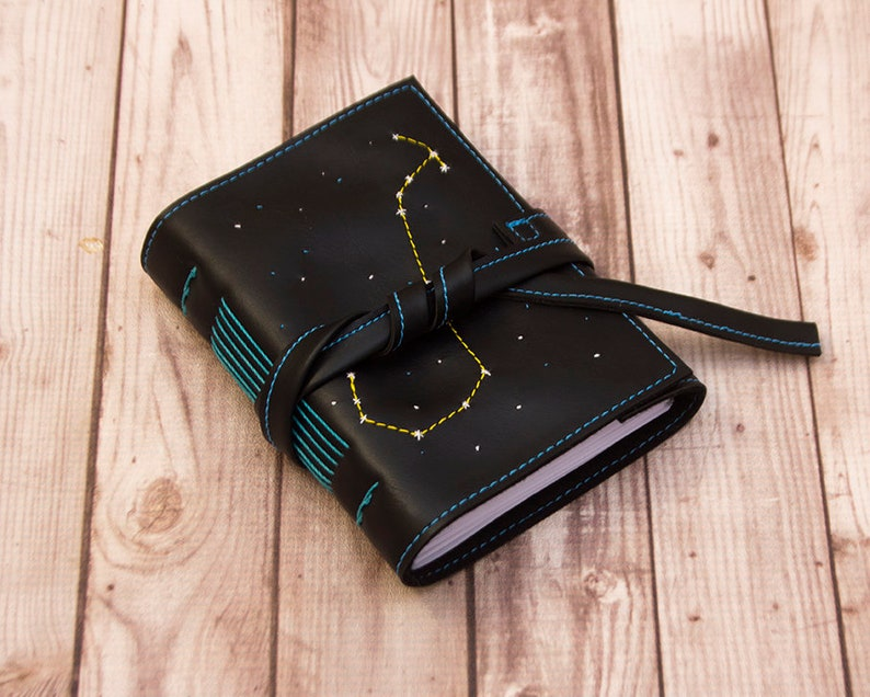 Zodiac notebook Scorpio Astronomy journal Faux leather image 0