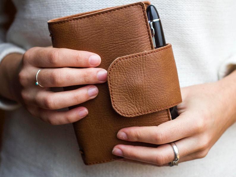 Caramel brown wallet Fauxdori Notebook wallet Travelers image 0