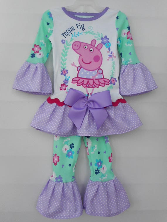 Peppa Pig Knit Hat /& Gloves Set Girls In Light Pink