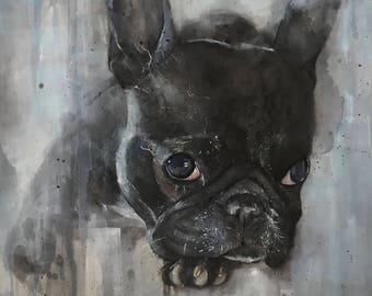 Custom Dog Portrait in Watercolour