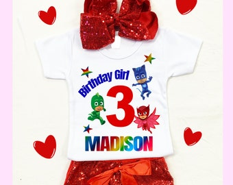 Red Sequin Shorts Custom Hairbow Dr Seuss Birthday T-shirt Red