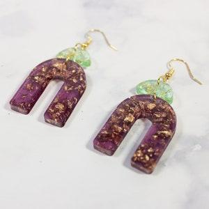 Resin modern boho contemporary earrings ARTISS