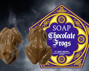 Handmade Harry Potter inspired Chocolate Frog Soaps, Cruelty Free, SLS Free (2 frogs per pack)