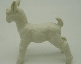 Vtg Schaubach Kunst Scottie Terrier Dog Bisque Porcelain Figurine Figure Germany 1950s Collectibles