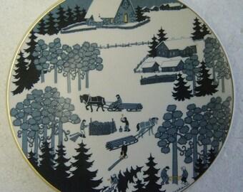 Arabia Finland X mas 1979 collectors plate Design Raija Uosikkinen