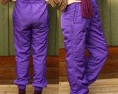 Vintage 90's Purple Ski Suit Pants Winter Violet Hipster Pants