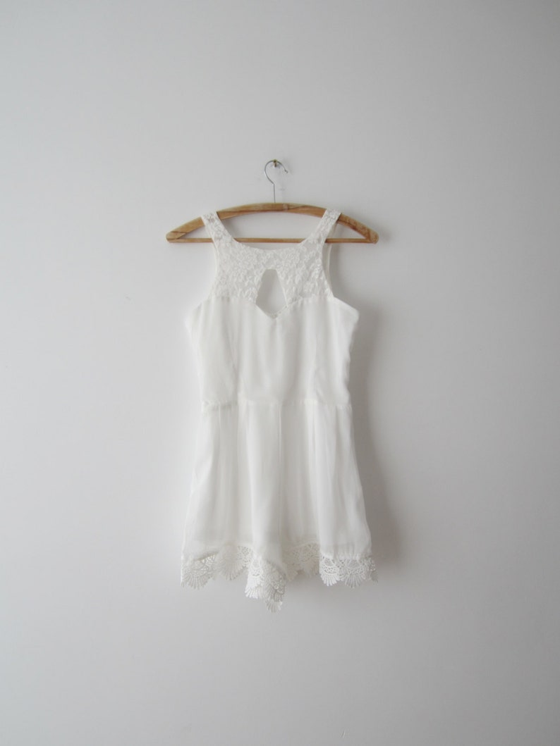 b2a14aa89ace White One Piece Shorts Jumpsuit Sheer White Overalls White