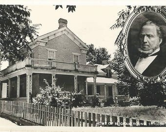 RPPC Postcard of The Home of Brigham Young, St George Utah