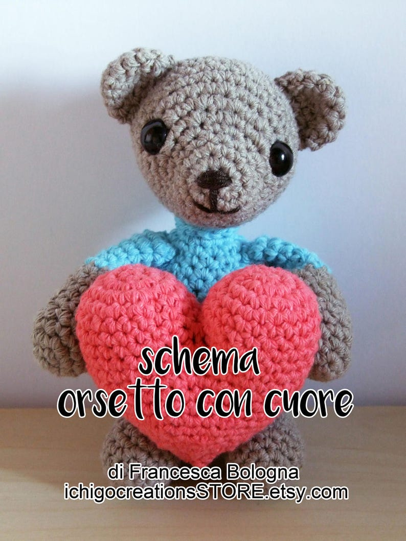 Schema Uncinetto Orsetto Con Cuore San Valentino Valentine Day Etsy