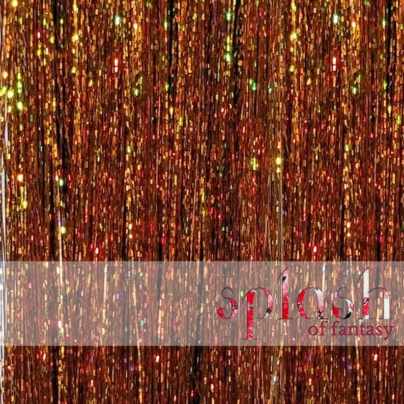 Sparkling Pumpkin Spice 40 Hair Tinsel 100 Strands