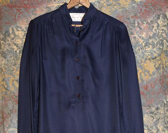 f6b299358b Vintage 70s Saks Oscar De La Renta II Something Boutique Blue Skirt Suit NWT
