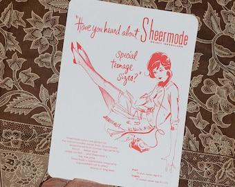 Vintage Sheermode Nylon Stockings 10 NWT
