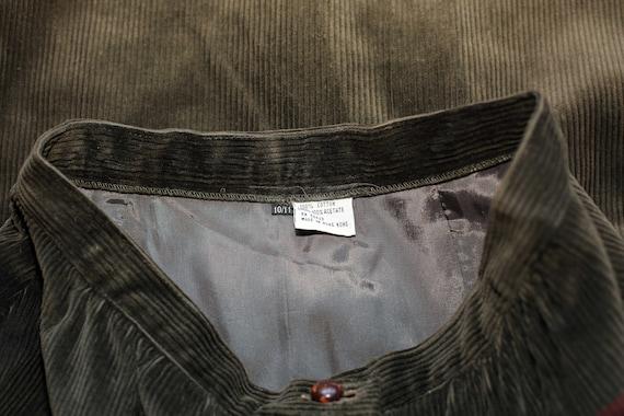Vintage 70s Sasson Green Corduroy Skirt Suit S - image 5