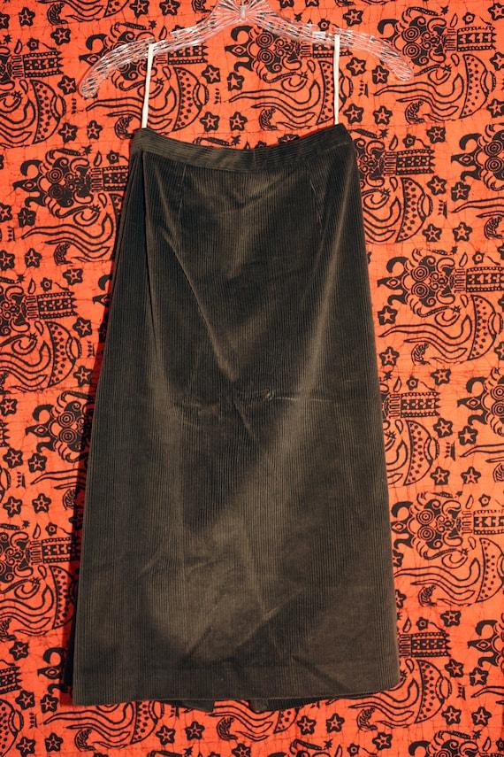 Vintage 70s Sasson Green Corduroy Skirt Suit S - image 6