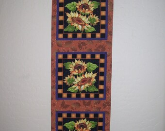 Sunflower Table Runner/ Wall Hanging Quilted
