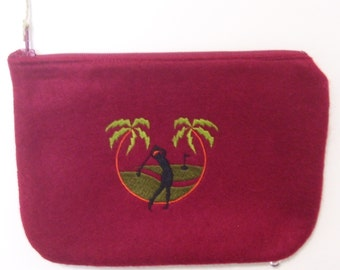 Embroidered Golf Change Purse Ball or T Bag