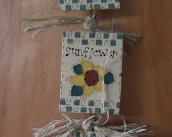 Hanging Seed Packets  - Beets, Sunflower, Watermelon