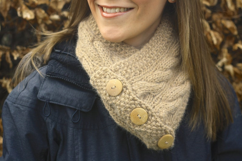 KNITTING PATTERN  Cairns Scarf Snood/ Infinity Scarf image 0