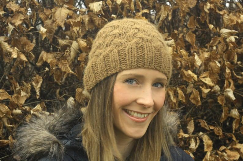 KNITTING PATTERN  Berwick Beanie Knitted Hat image 0