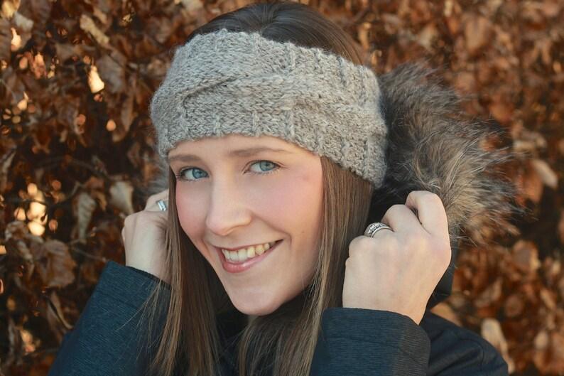 KNITTING PATTERN  Clare Headband Ear warmer image 0