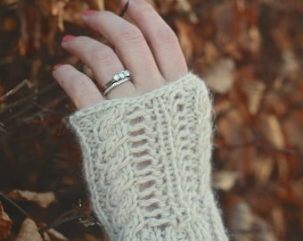 KNITTING PATTERN - Coast Fingerless Gloves (Knitted Wristwarmers)